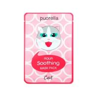 Тканевая маска Beauadd Puorella Aqua Soothing Mask Pack Cat